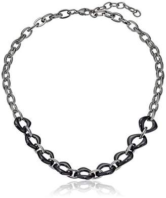 SteelX Stainless Steel and Ceramic Cushion Link Chain Necklace
