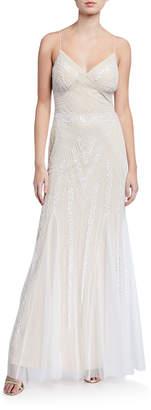 Marina Beaded Sleeveless Gown