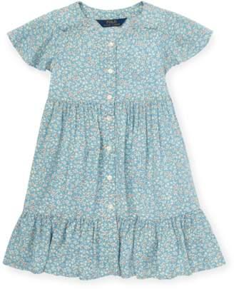Ralph Lauren Kids Shirred Floral Dress