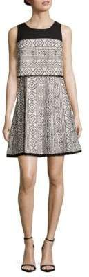 Rachel Roy Double-Layered Fit-& Flare Dress