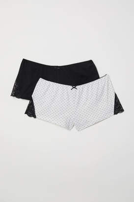 H&M 2-pack Pajama Shorts - Black