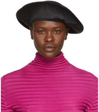 Pleats Please Issey Miyake Black Pleats Beret