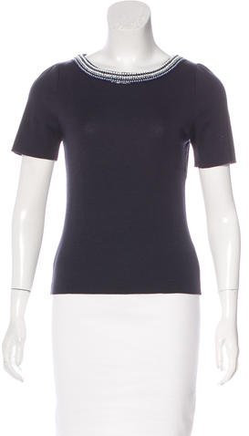 Christian Dior Embellished Wool Top