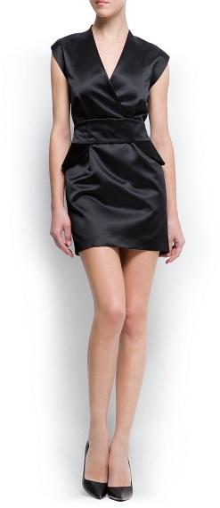MANGO Peplum satin dress