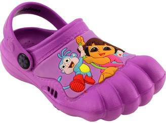 Nickelodeon Dora the Explorer Kids Purple Silly Feet Clogs 01977 (7/8 M US Toddler)