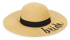Bride Embroidered Sun Hat