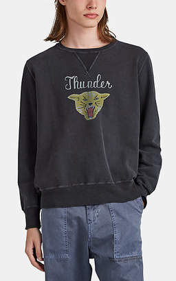 "Remi Relief Men's ""Thunder"" Cat-Graphic Cotton French Terry Sweatshirt - Black"