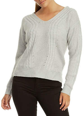 Dex Long-Sleeve Criss-Cross Back Sweater
