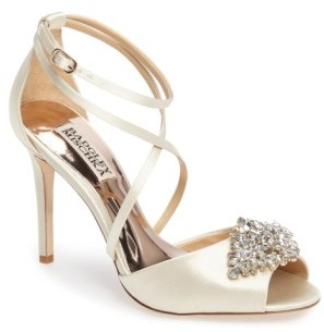 Women's Badgley Mischka Tatum Embellished Strappy Sandal $225 thestylecure.com
