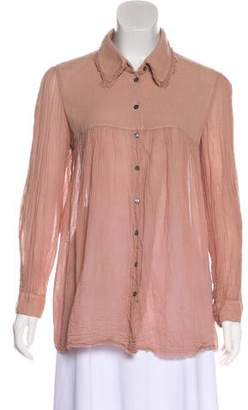 Raquel Allegra Long Sleeve Button-Up Top w/ Tags