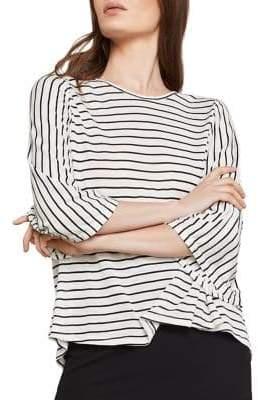 BCBGMAXAZRIA Striped Jersey Top
