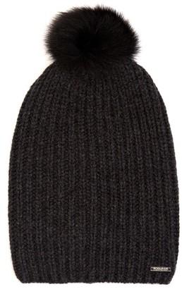 WOOLRICH JOHN RICH & BROS. Fur-pompom cashmere beanie hat $155 thestylecure.com