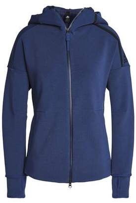 adidas Cotton-Blend Jersey Hooded Jacket