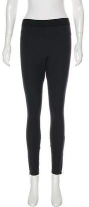 Alexander Wang Satin High-Rise Zip-Accented Skinny Lounge Pants