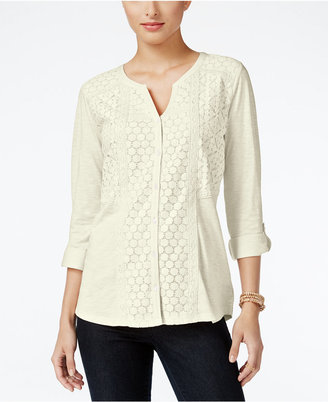 Style & Co. Lace Shirt, Only at Macy's $46.50 thestylecure.com