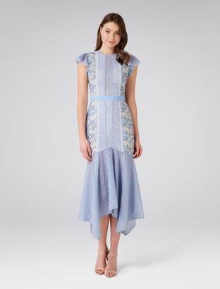 Forever New Elodie Lace Fishtail Dress - Blue - 4