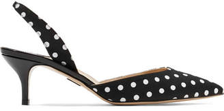 Paul Andrew Rhea Polka-dot Canvas Pumps