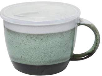 Gibson Home 29 oz Soup Cup with Vented Lid, Turquoise