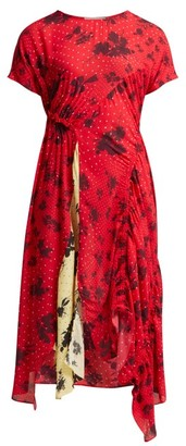 Preen Line Asha Floral Print Crepe Dress - Womens - Red Multi