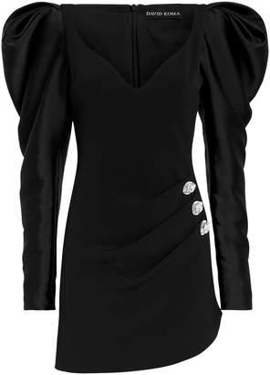 David Koma Puff Sleeve Mini Dress