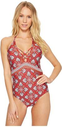Laundry by Shelli Segal Butterfly Twin Plunge One-Piece Swimsuit Women's Swimsuits One Piece