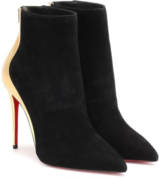 Christian Louboutin Delicotte 100 suede ankle boots