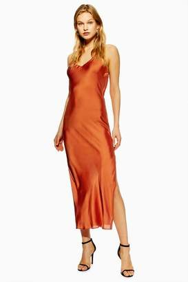 Topshop Tall Plain Satin Slip Dress