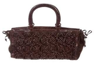 Nancy Gonzalez Crocodile & Suede Bag