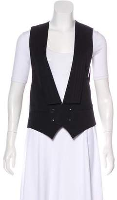 Maison Margiela Pleated Shawl-Lapel Vest