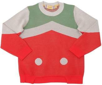 Color Block Cotton Sweatshirt