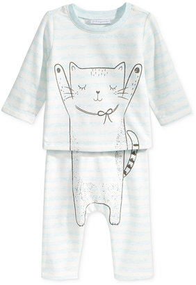 First Impressions 2-Pc. Cat T-Shirt & Pants Set, Baby Girls (0-24 months), Only at Macy's $24.50 thestylecure.com