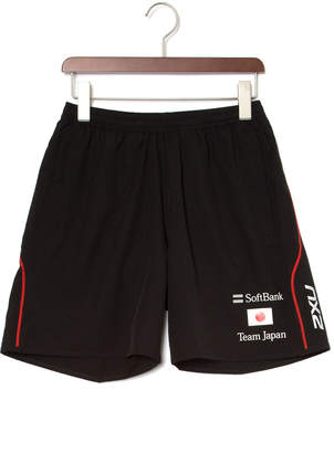 2XU (ツー タイムズ ユー) - 2XU SoftBank Team Japanモデル テクニカル ハーフパンツ ブラック m