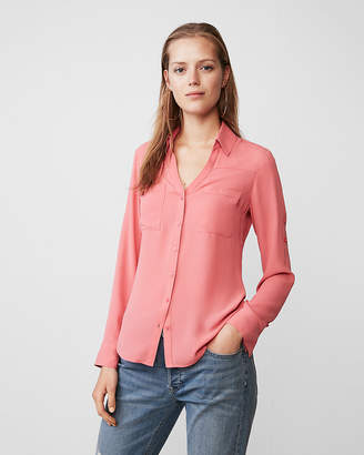 Express Slim Fit Convertible Sleeve Portofino Shirt