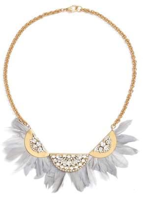 SANDY HYUN Feather Bib Necklace