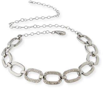 Siena Jewelry Abstract Diamond Link Choker Necklace