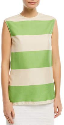 Calvin Klein Sleeveless Colorblock Shantung Top