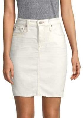 AG Jeans Erin Distressed Denim Skirt