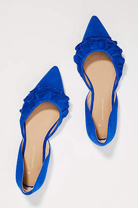 Anthropologie Sylvie Ruffled D'Orsay Flats