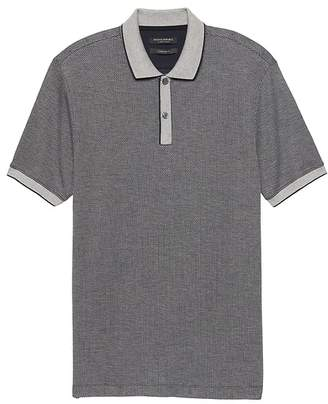 Banana Republic Luxury-Touch Jacquard Tipped Polo