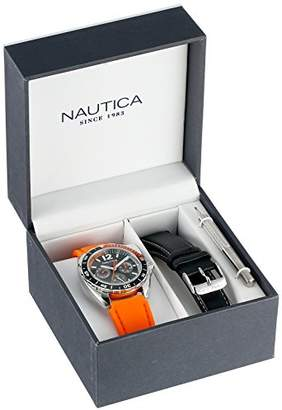 Nautica Unisex N09908G Sport Ring Multifunction Stainless Steel Watch With Two Interchangable Bands
