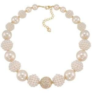 Carolee Pearl Stone Necklace