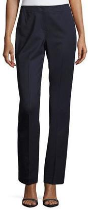 Lafayette 148 New York Barrow Stretch-Wool Suiting Pants, Black/Multi $348 thestylecure.com