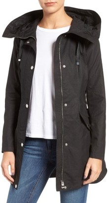 Women's Guess Lace-Up Hooded Utility Coat $128 thestylecure.com