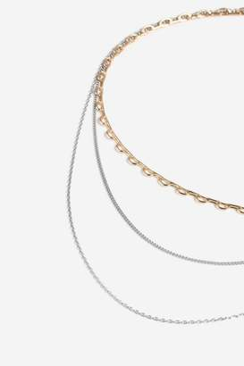 Topshop Mixed Metal Chain Choker