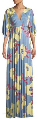 Rachel Pally Bloom-Print Long Caftan Dress