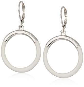 Napier Women's Silver/ Circle Drop Earrings