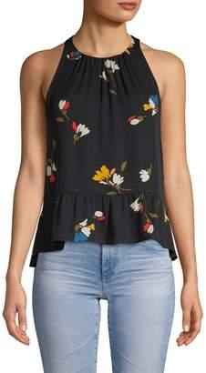 Joie Ayame Floral-Print Silk Tank Top