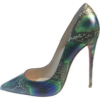 Christian Louboutin So Kate Python Heels