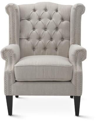 Taupe Duke Wingback Armchair