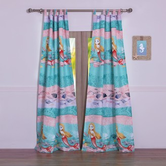 Greenland Home Fashions Mermaid Window Curtain Set